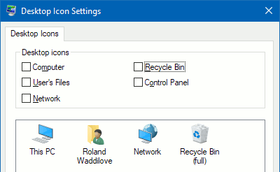 Remove the Recycle bin from the Windows desktop