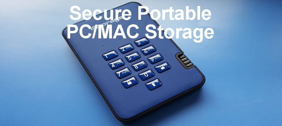 iStorage diskAshur2 secure encrypted portable USB drive