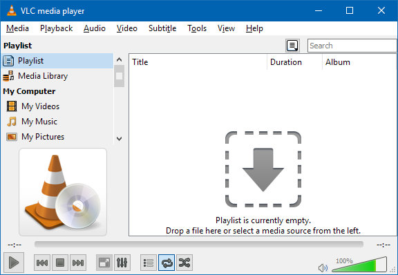 VLC media player is available as a portable app