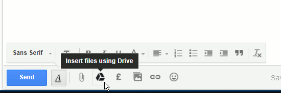Attache Drive files to Gmail messges