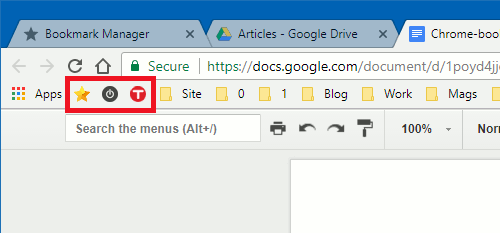 Delete the name of a bookmark in Chrome to leave just the icon