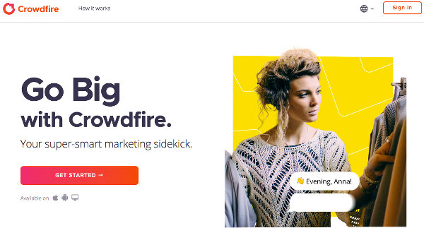 Crowdfire website home page