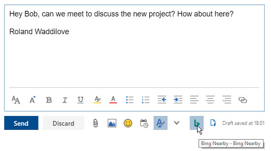 Create a new email at outlook.com
