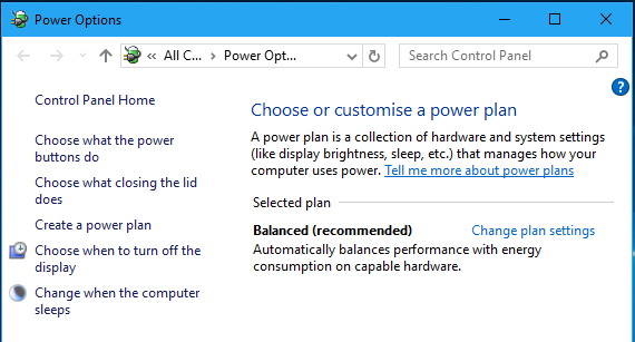 Master power settings in Windows 10 for longer battery life