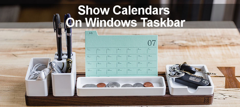 A step by step guide showing how to view your calendar agenda on the taskbar in Windows 10. Add Google Calendar too