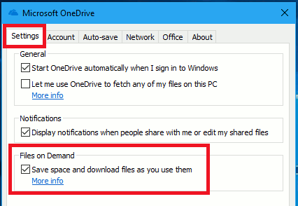Save gigabytes of disk space with OneDrive Files on Demand
