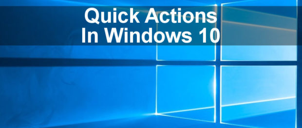 Customise the quick actions tiles in Action Centre in Windows 10 and put your favourite or most used ones first.