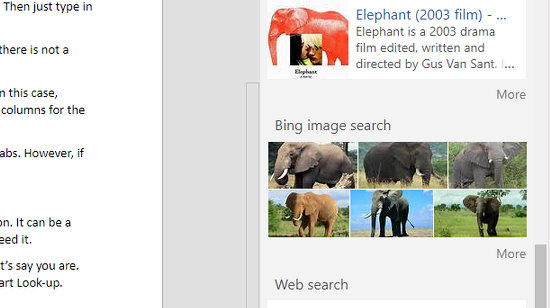 Find images using Bing from within Word
