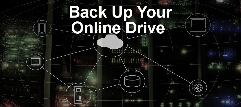 Back up files stored in your online drive