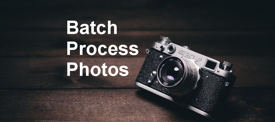 Batch process multiple photos in one go using BatchPhoto Espresso online tool.