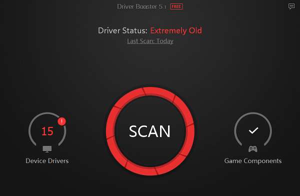 IObit Driver Booster Free finds and updates the drivers in Windows PCs
