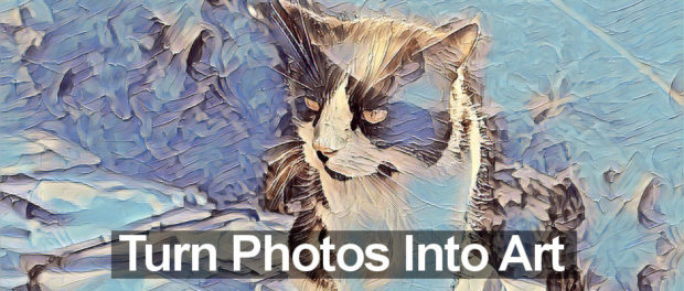 Four Windows 10 apps that turn photographs into works of art, such as oil or water paintings.