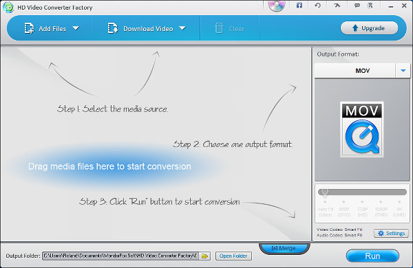 HD Video Converter Factory for Windows main window