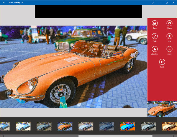 Add filters to photos with Water Painting Lab app for Windows 10