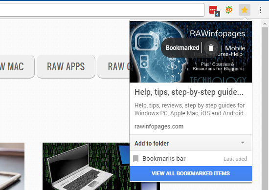 how to get website icons on bookmarks chrome
