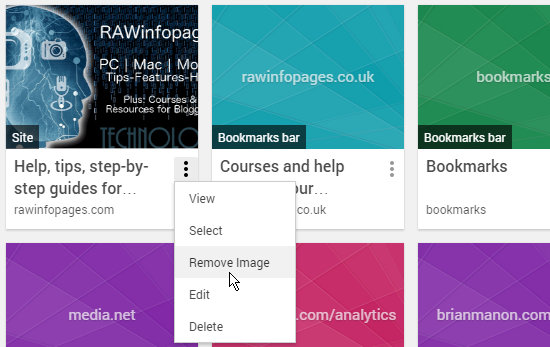 Bookmarks in Chrome Bookmark Manager