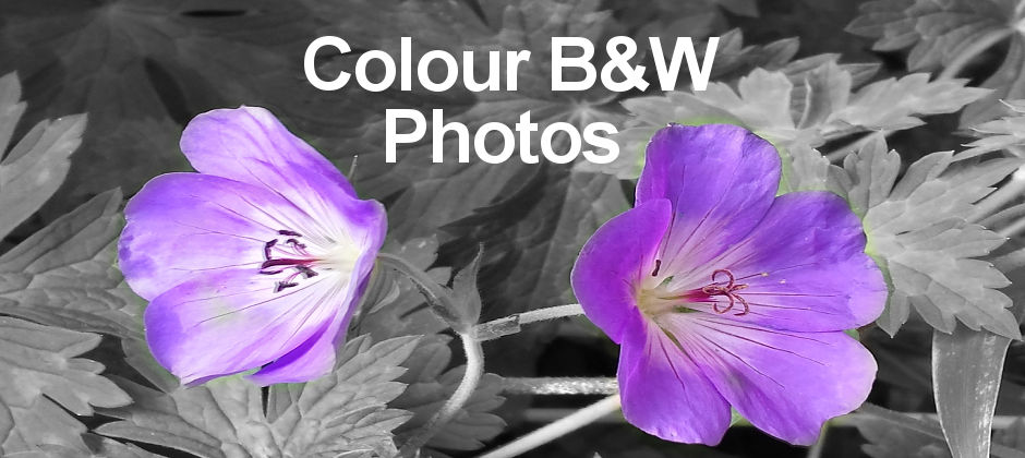 Selectively colour objects in black and white photos to make them stand out. It's a great effect.