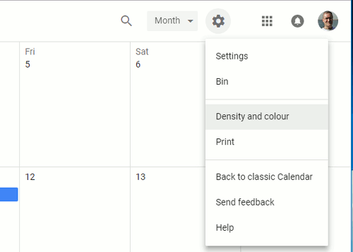 how to change google calendar default colour