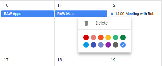 Change the colour of an event in Google Calendar