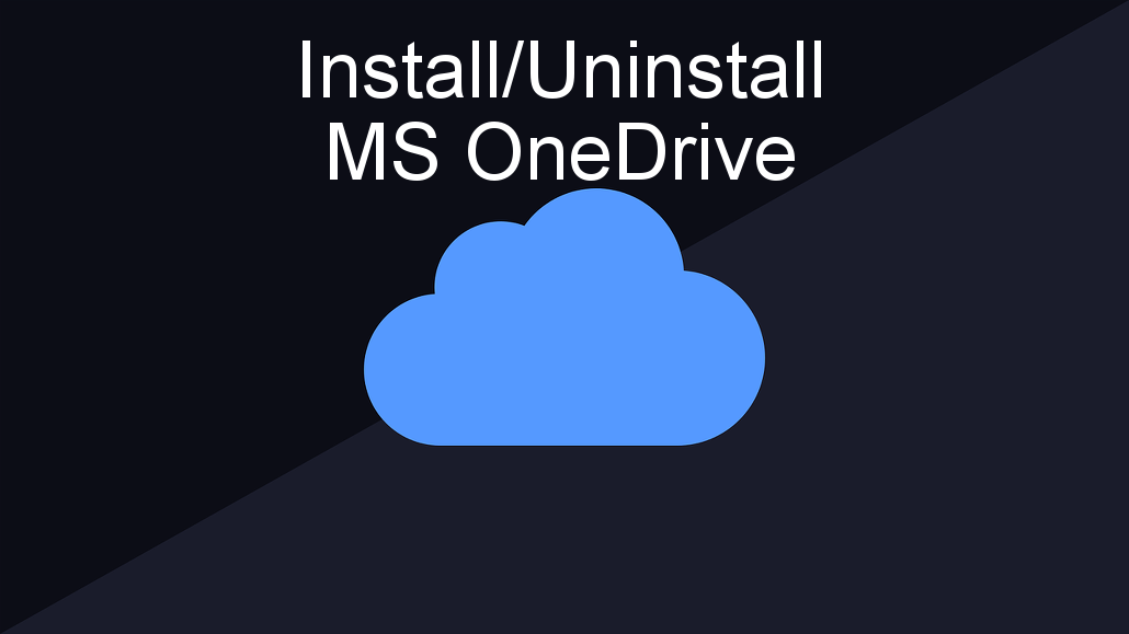 How to fix problems with Microsoft OneDrive in Windows 10. Install it and uninstall it.