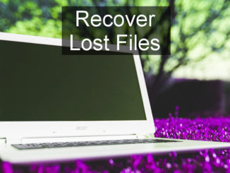 Recover lost and deleted files on disks and other storage media using a Windows utility